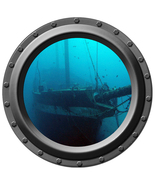 Sunken Sailboat - Porthole Wall Decal - $14.00
