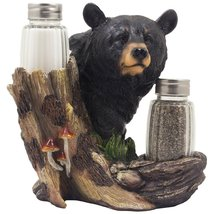 *Black Bear Glass Salt and Pepper Shaker Set Sculpture* - €22,07 EUR
