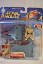 Obi-Wan Kenobi with Force-Flipping Attack!Attack of the Clones-Star Wars... - $29.99