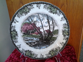 "Johnson Bros, Friendly Village, Willow By the Brook 7.75"" Salad Plate, Mint  - $5.99"