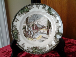 "Johnson Bros, Friendly Village, Sugar Maples 6"" Desert Plate, Mint  - $4.99"
