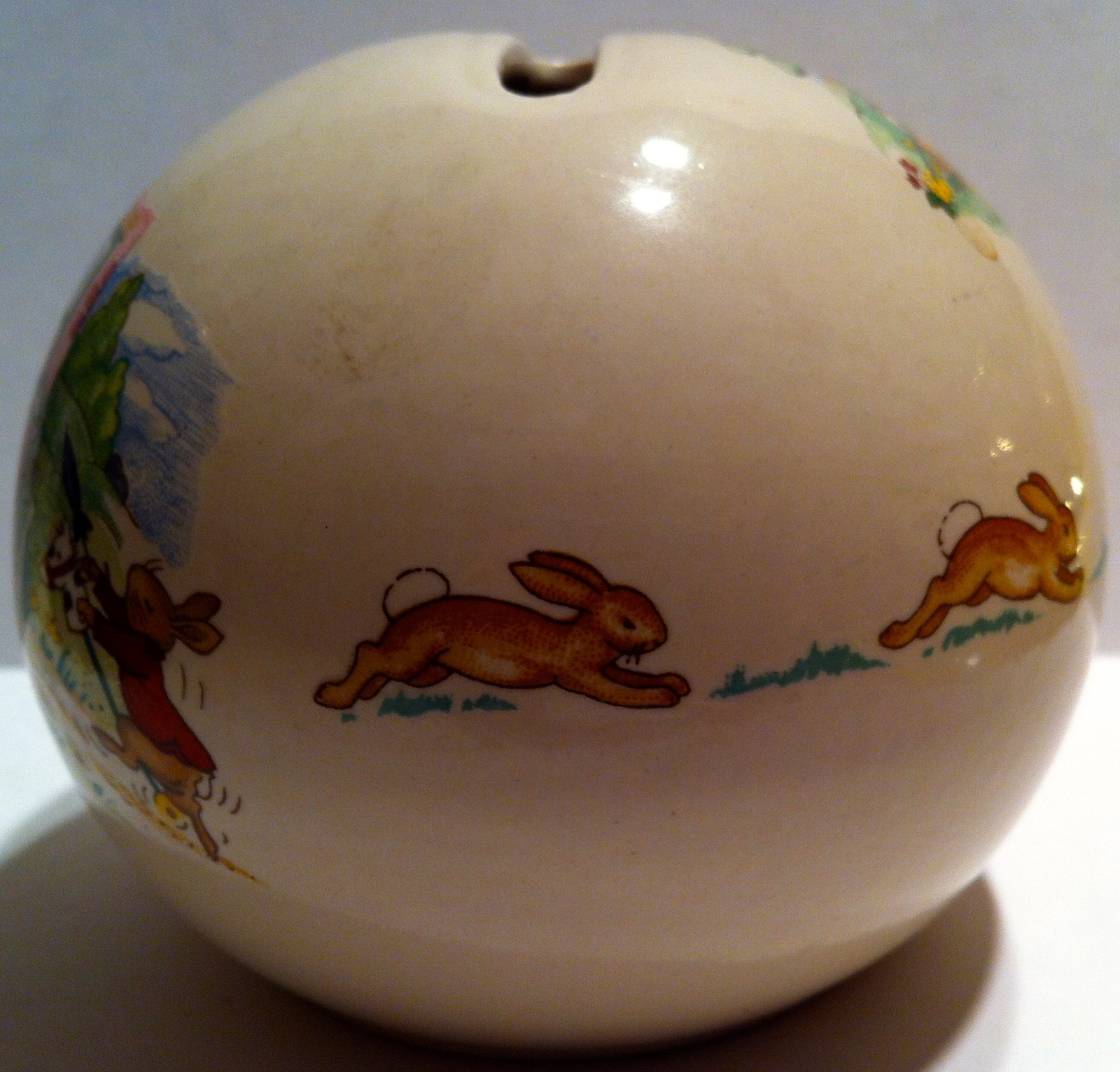 Round Money Ball Bank from Royal Doulton ~ Vegetable Store ~ Pre-Owned