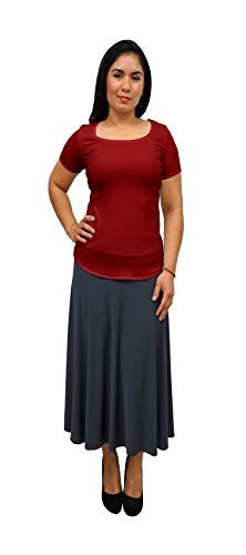 DBG Women's Red Short Sleeves Blouse (Large, Red)