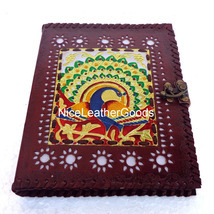Handmade Leather Journal Leather Diary Lockable Journal - Brass Dancing ... - $36.00