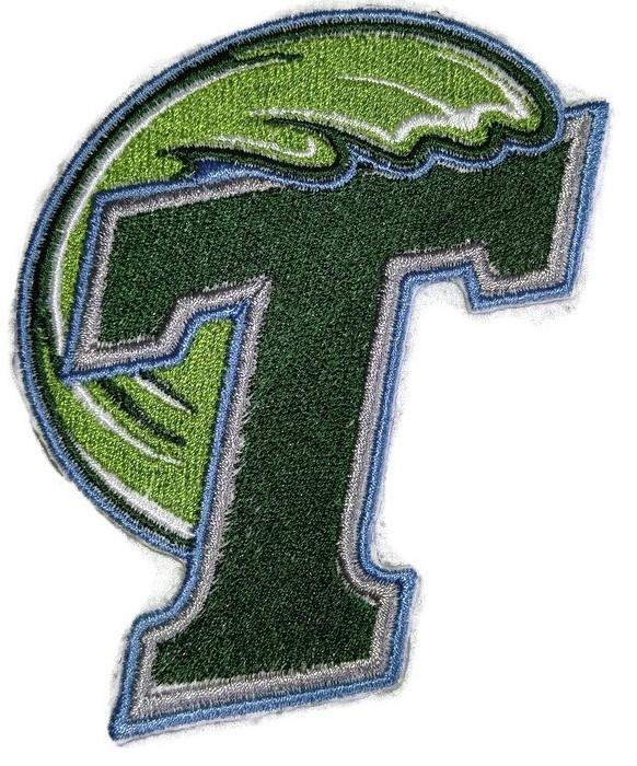 Tulane Green Wave logo Iron On Patch