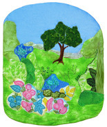 Springtime: Quilted Art Wall Hanging - £316.40 GBP