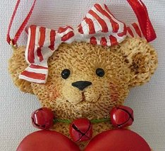 Holly Bearies NICE GIRLTeddy Bear Ornamentwith HEART wow Can be PERSONAL... - $15.99