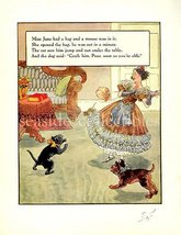 1930s MOTHER GOOSE NURSERY RHYME PRINT Miss Jane - $8.99