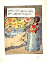 1930s MOTHER GOOSE NURSERY RHYME PRINT Little Husband - $8.99
