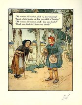 1930s MOTHER GOOSE NURSERY RHYME PRINT HARD of HEARING - $9.99