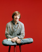 Peter Tork in The Monkees sitting cross legged on stool 16x20 Canvas Giclee - $69.99
