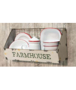 FARMHOUSE GaLVaNiZeD MeTaL WiRe WALL BASKET country ~ rustic ~ vintage B... - $52.95