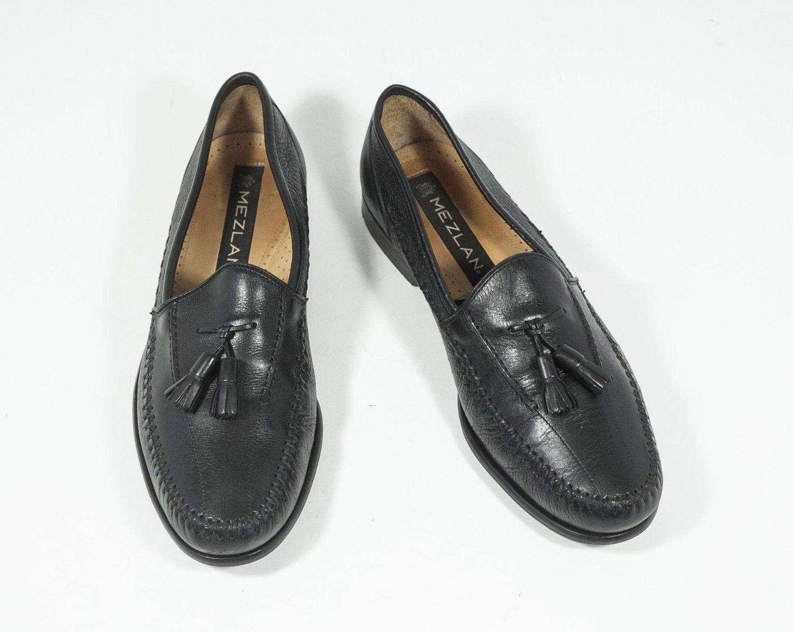 f3b05c8c92c Mezlan Sz 8.5 Black Tassel Slip on Loafers Leather -  72.00