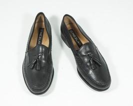 Mezlan Sz 8.5 Black Tassel Slip on Loafers Leather - $72.00