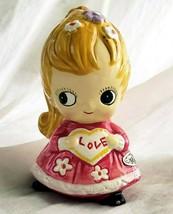 Josef Originals BIG EYED Girl, February Birthday Figurine, Vintage Japan... - $19.00