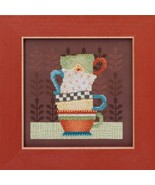 Coffee Cups Kit 2016 Coffee & Friends cross stitch kit Debbie Mumm Mill ... - $14.85