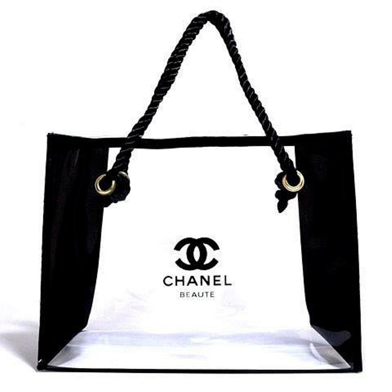 a3cee4a1305dd1 Chanel Beaute Makeup Cosmetic Tote Bag Clear and similar items.  Chanelbeauteclear1