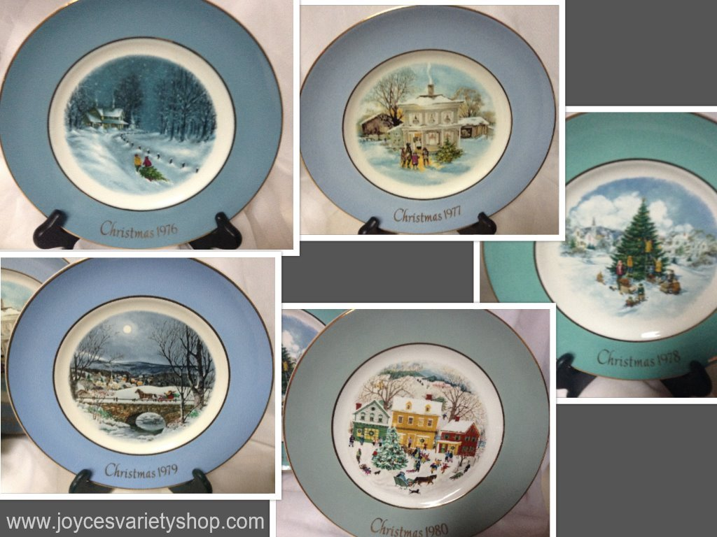 avon plates collection collage