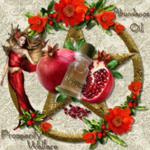 No 112 abundance oil.  Greek ancient magic, prosperity, pomegranate, good fortun - $25.55