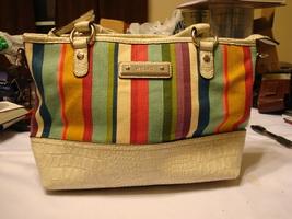 Relic Multicolor Canvas/Leather Top Handle Hnadbag - $20.00