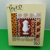 """NEW Sealed 550 Piece Jigsaw Puzzle By RoseArt """"Cafe Mocha"""" 19""""x19"""" Free Shipping - $18.69"""