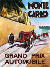 Rallye Automobile Monte Carlo Vintage Racing Racecar Metal Sign - $16.95