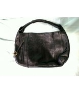 Stone Mountain black leather shoulder bag - $42.75