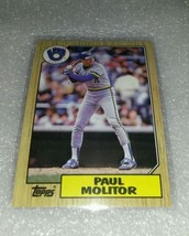 1987 Topps Paul Molitor Awesome card, ships fast! - $1.95