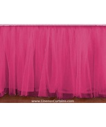 Olympic Queen HOT PINK Tulle Ruffled Bed Skirt in any drop length - $75.99+