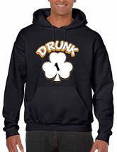 Drunk Shamrock 1-4  Men's Hooded Sweatshirt Saint Patrick's Day Shirt - $26.00