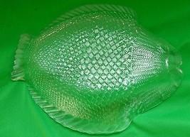Vintage Glass fish serving dish plate bowl 25.5... - $25.00