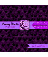 Hand-painted Digital Paper 8 1/2 x 11 Jpeg 1 De... - $1.95