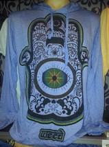 r4 Men Yoga Hoodie long sleeve Yoga Mediation palm Sure om WEED M HIPPIE... - $24.74