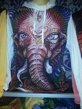 r Men Yoga Hoodie long sleeve Yoga Mediation Ganesh Sure om WEED M HIPPI... - $24.74