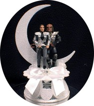 WORF Lieutenant Jadzia Dax Wedding Cake Topper STAR TREK Moonligth Treki... - $62.27