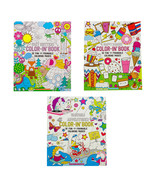 Happy Snacks Spiral Perforated Coloring Book One-Side Page Adult Kid Col... - €8,71 EUR+