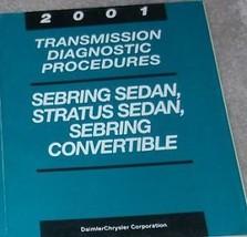 2001 Chrysler Sebring & Stratus Transmission Diagnostic Procedures Shop Manual - $4.85