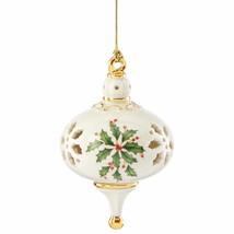 Lenox 2015 Holiday Pierced Ornament Annual Holly Christmas 1st Quality NEW - $34.50