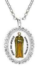 Judas Apostle Patron of Betrayal Cz Crystal Silver Necklace Pendant - $19.95