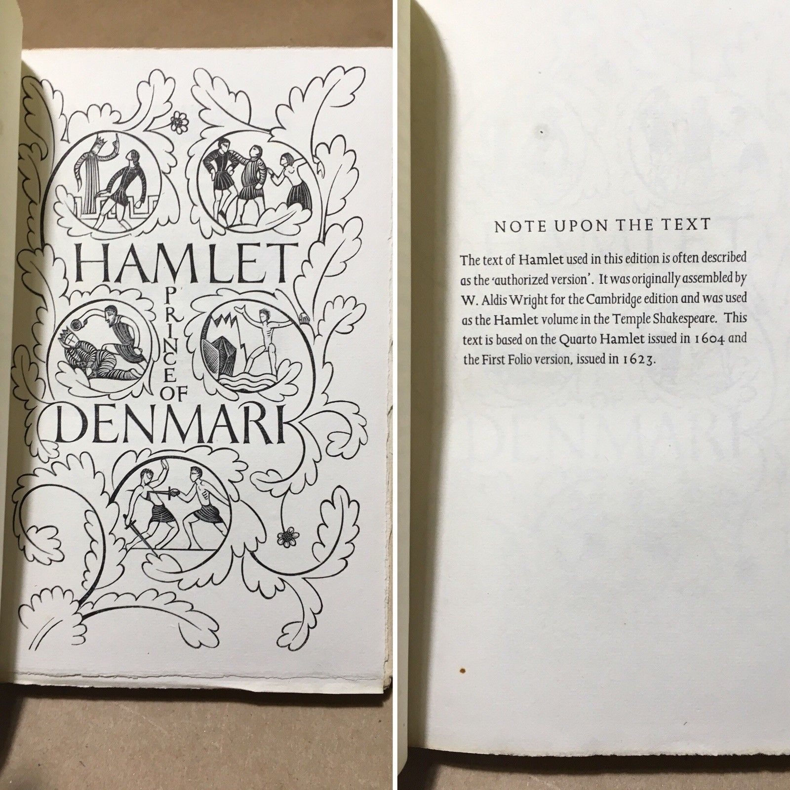 HAMLET ~ William Shakespeare ~ Eric Gill ~ Limited Editions Club ( LEC) 1933