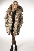 Lynx Fur Coat Hooded Sectional image 5