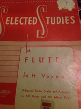 Hal Leonard Selected Studies For Flute by H . Voxman Student Music Study... - $5.98