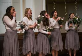 Women Gray Irregular Midi Tulle Skirt Gray Bridesmaid Midi Tulle Skirt Plus Size image 9