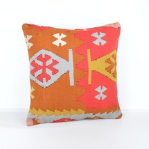 red tones kilim pillows shades of each color kilim pillow   - £11.14 GBP