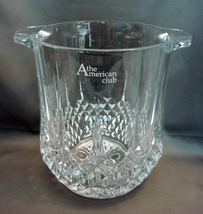 Crystal Ice / Wine/Champagne Bucket from the American Club, Wisconsin