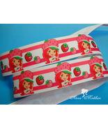 "5 yards 7/8"" Strawberry Doll Inspired Printed Grosgrain Ribbon - $5.00"