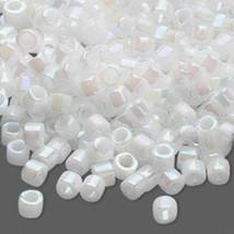 Miyuki Glass Delicas 11/0, White Luster Pearl AB DB 202, 50g of delica beads - $14.50