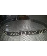 Nocona Black Leather Horse Shoe Rhinestone Cowgirl Belt Sz Xtra Small - $29.99