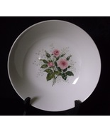 Vintage Garden Rose Bowl Heather Rose Serving Dish Pink Roses and Baby's... - £14.72 GBP