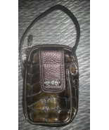 Brighton Croc Leather Cell Phone Holder Wallet Wristlet - $19.99